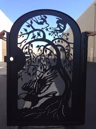 buy a handmade metal gate steel eagle fairies home pedestrian walk