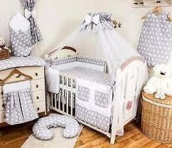 Baby Cot Bedding Sets Cot Bedding Sets 11 Pcs 15 Pieces Polka Dots Baby Bed Bumper Set
