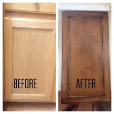 how to refinish kitchen cabinets with stain refinishing my builder grade kitchen cabinets diy diy
