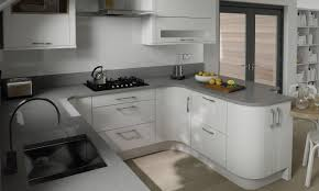 white gloss cupboards grey granite worktop google search