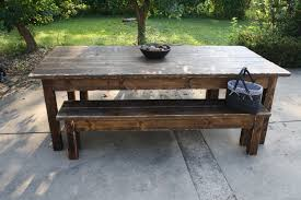 Foot Dark Walnut Stained  Distressed Primitive FARMHOUSE - Primitive kitchen tables