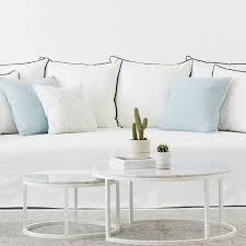 round nesting coffee table modern designer round nesting marble coffee tables white steel base