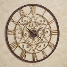 Small Decorative Wall Clocks Ralston Round Metal Wall Clock