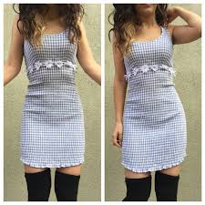 90s dress vintage vintage 90s gingham dress baby blue small s from
