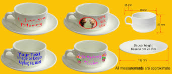 design your own custom personalised cup and saucer any design