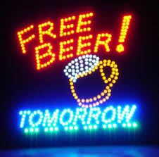 light up beer signs amazon com motion led sign 19 x 19 inches free beer tomorrow