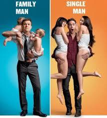 Single Man Meme - family man vs single man y so serious