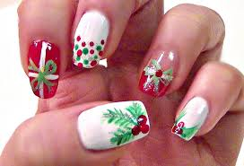 easy christmas holly nail tutorial short nails youtube