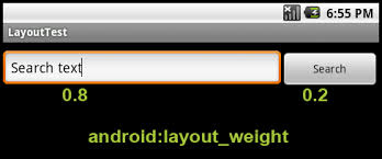 android layout weight attribute stretching and spanning layouts in android