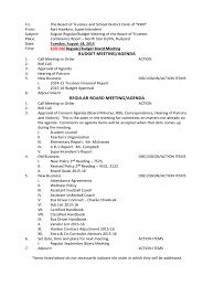 Management Meeting Agenda Template Free budget meeting agenda template 4 free templates in pdf word