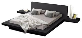 matisse co fujian modern queen platform bed with 2 night stands