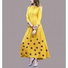 dress design letest yellow kurtis dress design in online shopping 2018 wear hut