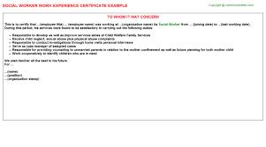 Resume Sample For Social Worker by Child Welfare Social Worker Cover Letter