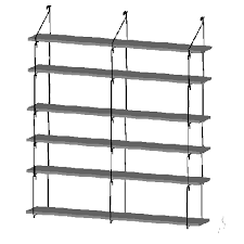 Deep Wall Shelves by Wall Store Unit For 6 Shelves 8 Inch Deep Quick Shelf Shelving
