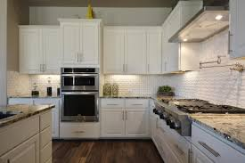 tiled kitchens ideas small white beveled subway tile kitchen backsplash u2014 the clayton
