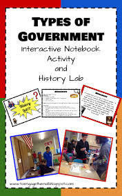 types of government interactive notebook activity and history lab