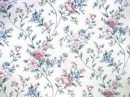 vintage 80s sunworthy vinyl rose blue vintage floral vine paper