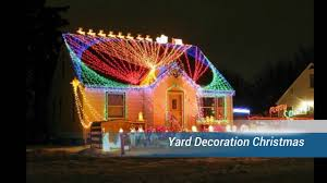 Outdoor Reindeer Christmas Decorations by Yard Decoration Christmas Youtube