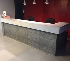 Concrete Reception Desk Concrete Reception Desk Illuminated Holcim Litracon