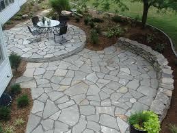 Backyard Flagstone Patio Ideas by Garden U0026 Landscaping Diy Concept For Stone Patio Ideas
