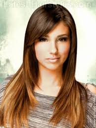 brunette hairstyles wiyh swept away bangs long hairstyles with layers and side bangs for women with oval