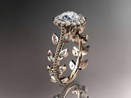 most beautiful wedding rings 14kt gold diamond leaf and vine wedding ring engagement ring