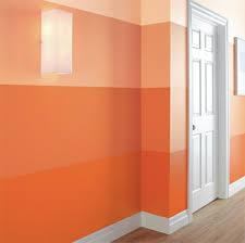 wand streifen streifen muster wand streichen ideen orange farbe faux finish