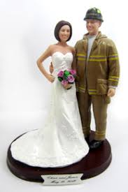 fireman wedding cake toppers firefighter and fireman wedding cake toppers
