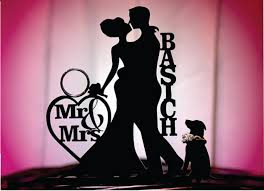 cake topper with dog made in usa dog groom personalized silhouette