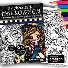enchanted halloween a whimsy girls fantasy coloring book