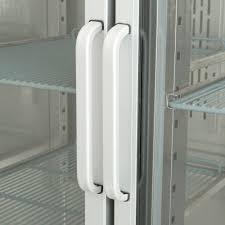 glass door reach in refrigerator
