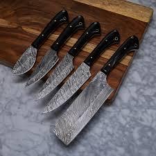 damascus kitchen knives for sale damascus kitchen knife set