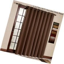 Insulated Patio Curtains Thermal Blackout Patio Door Curtain Panel Sliding Wide Curtains