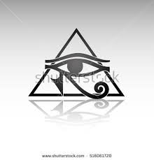 ancient symbol eye horus sign stock vector 516061720