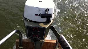 johnson 2hp outboard first run on the lake youtube