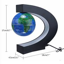 world globe home decor led tellurion c shape magnetic levitation floating globe world map