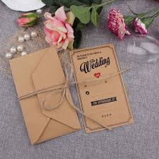 Fancy Wedding Invitation Cards Online Get Cheap Brown Invitation Paper Aliexpress Com Alibaba