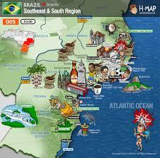 Maps History Brazil Southeast Map South Map Illustration Travel History