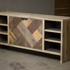 reclaimed wood consoles and sideboards