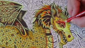 how i color a golden dragon tutorial 1 prismacolor enchanted