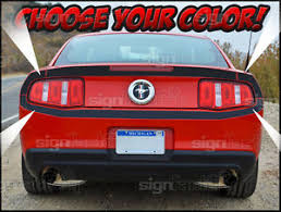 2014 Blacked Out Mustang 2010 2014 Mustang Gt Rear Trunk Bumper Blackout Svt Cobra Decals