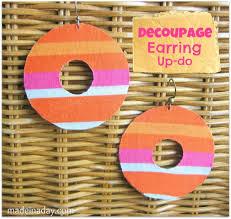 decoupage earrings decoupage earring updo made in a day