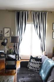 black and white striped vertical striped curtains