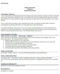 Electrician Resume Templates Electrician Cv Sample Coinfetti Co