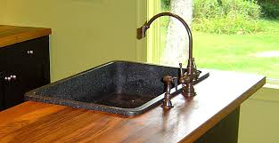 Kitchen Sink Countertop Wood Countertops With Undermount Or Overmount Sinks Stoves