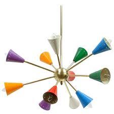 Multi Coloured Chandeliers 1950s Italian Multi Color Sputnik Chandelier In The Manner Of