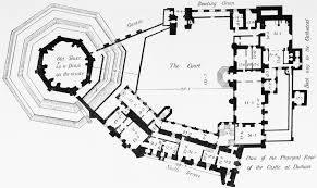 castle plans the city of durham the castle british history online