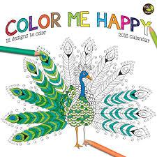2016 color me happy wall calendar tf publishing 9781624380570