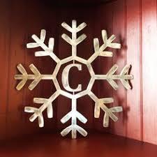 rustic metal snowflake ornament large by wiresandstones on etsy