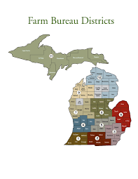 Michigan Counties Map by Board And State Committees